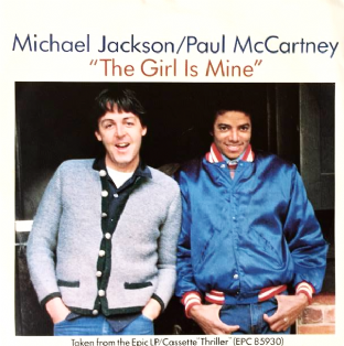 "Michael Jackson & Paul McCartney ‎- The Girl Is Mine (7"") (EX-/VG-)"